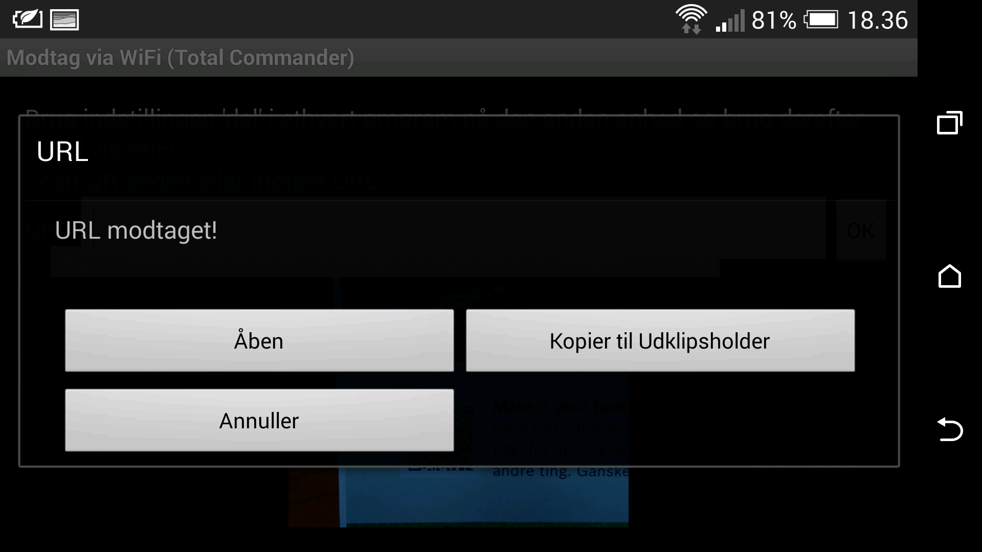 New Android plugin - Wifi transfer - Total Commander